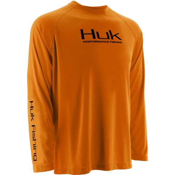 Huk Performance Raglan Long Sleeve Orange