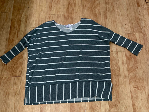 Athlesiure Striped Oversize Top