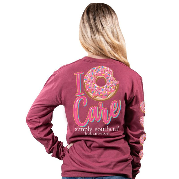 Simply Southern Donut Care Maroon