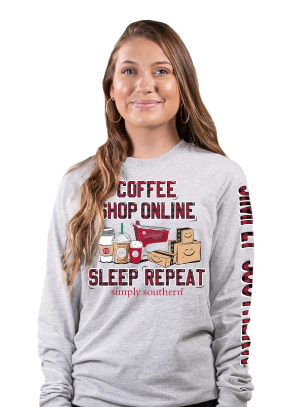 Simply Southern Coffee Shop Online Sleep Repeat Plaid