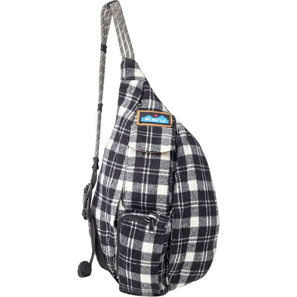 Kavu Mini Plaid Rope Bag Oatmeal