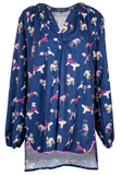 Simply Southern Dog Top Navy