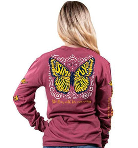 Simply Southern Long Sleeve Butterfly