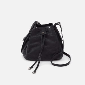 Cinder Crossbody Black Soft Washed Hobo