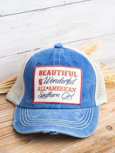 Beautiful Wonderful All American Southern Girl Patch Cap