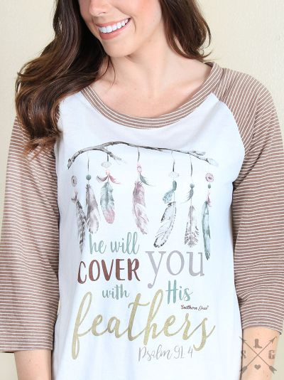 He Will Cover You with His Feathers Raglan