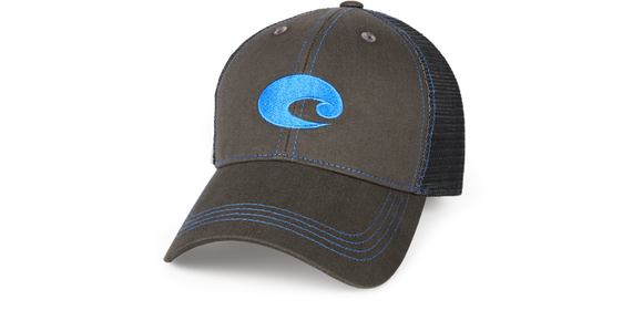 COSTA NEON TRUCKER GRAPHITE HAT NEON BLUE