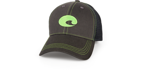 COSTA NEON TRUCKER GRAPHITE HAT NEON GREEN