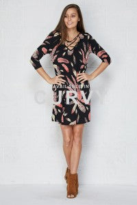 Feather Print Dress