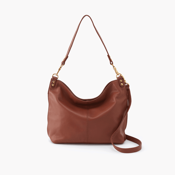 Pier Brown Leather Crossbody Hobo