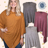 Simply Southern Poncho Heather Grey