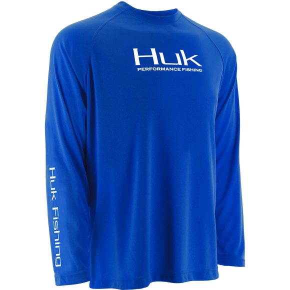 Huk Performance Raglan Long Sleeve Royal Blue
