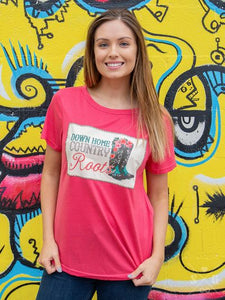 Ladies Down Home Country Roots Tee