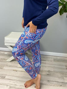 Simply Southern Sport Legging Paisley
