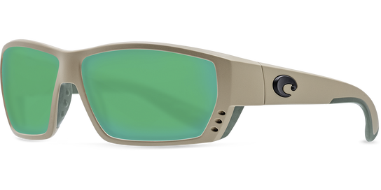 Costa Tuna Alley Sand Green Glass Polarized Sunglassess