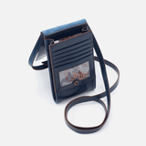 Token Wallet Crossbody Blue Leather