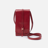 Token Wallet Crossbody Red Leather