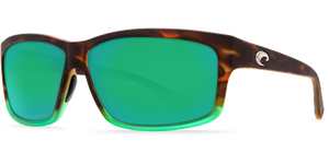Costa Cut Matte Tortuga Fade Green Mirror