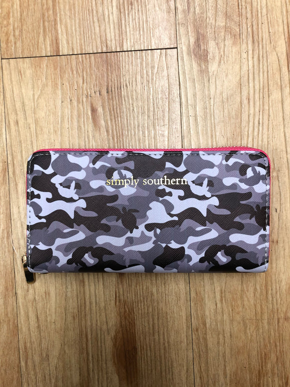 Simply Southern Grey Camo Wallet