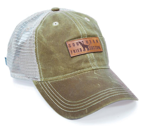 Southern Fried Cotton Waxy Hound Trucker Cap
