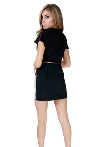 Aviana Corduroy Button Down Skirt