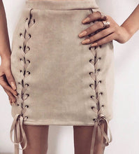 Naya Knotted Suede Skirt