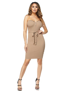Layla Strapless Belted Dress