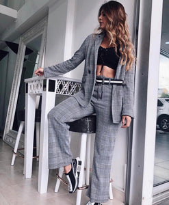 Katrina Plaid Blazer