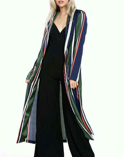 Stephanie Striped Duster