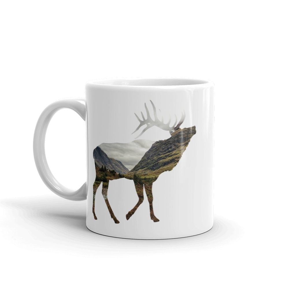 Wild Stag Silhouette Mug - exclusivedoodle