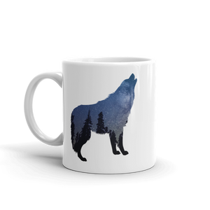 Wild Wolf Silhouette Mug - exclusivedoodle