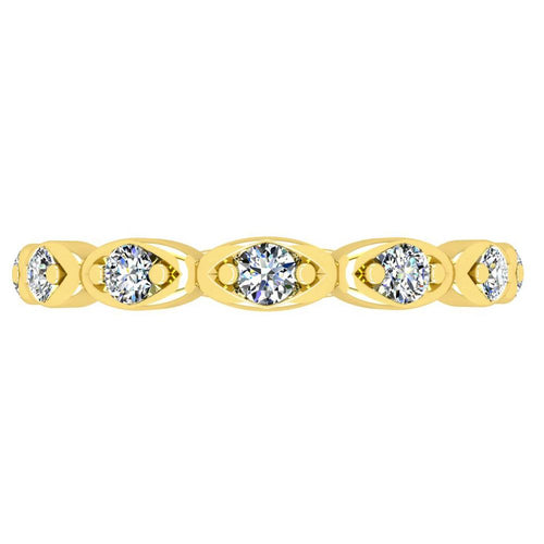 18K Yellow Gold Diamond Band - Nazarelle