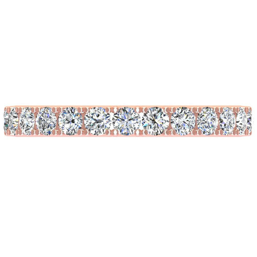 14K Rose Gold Diamond Band