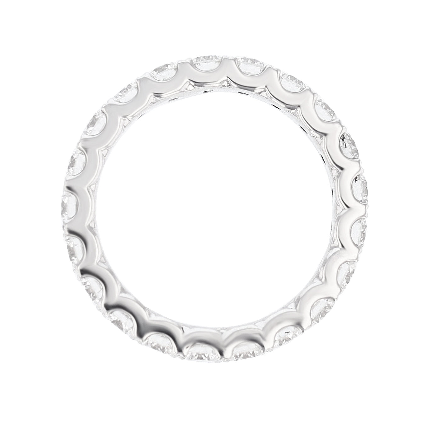 18K White Gold Round Diamond Eternity Band