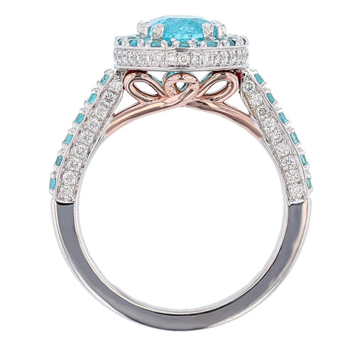 One of a Kind Paraiba Tourmaline and Diamond Ring