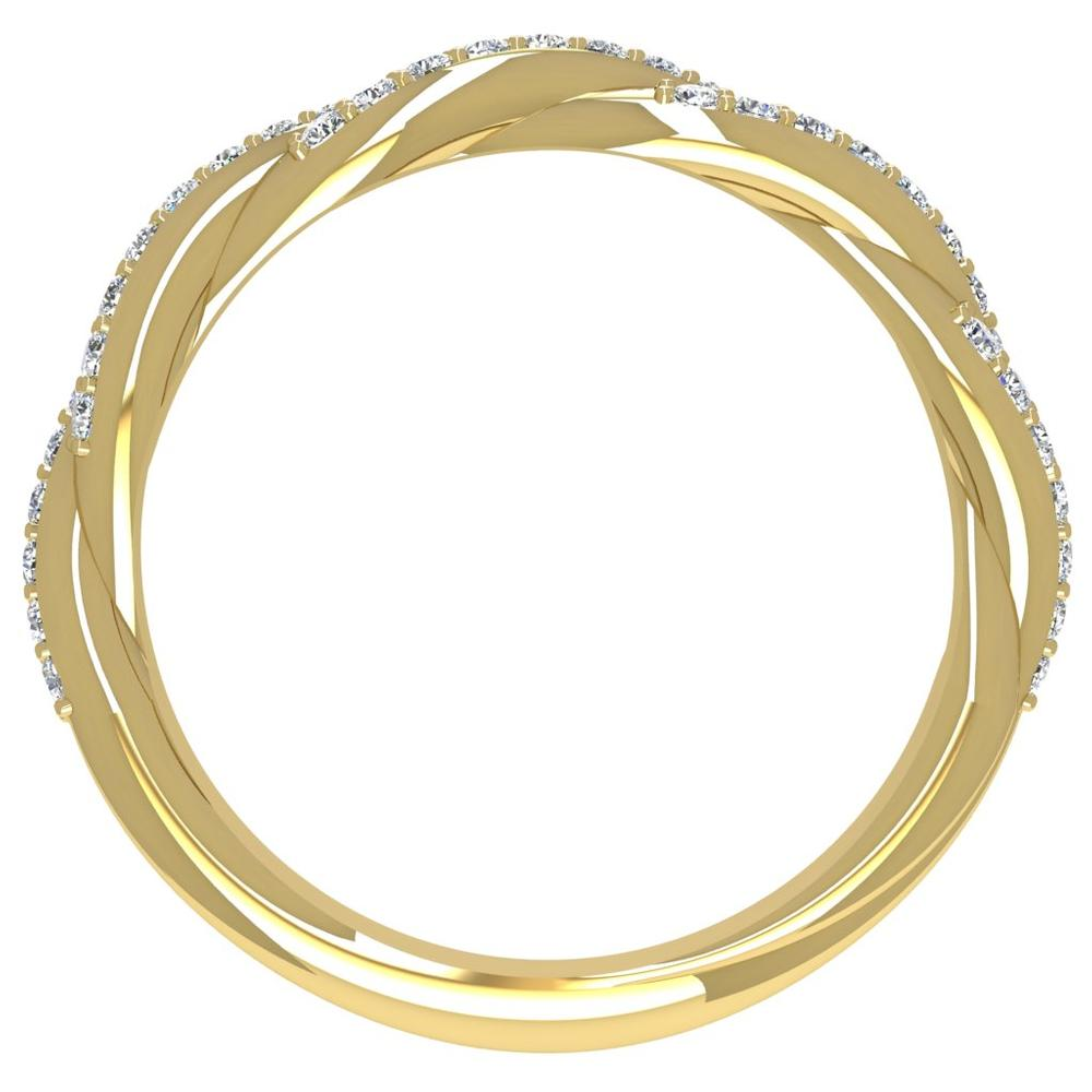 18K Yellow Gold Diamond Twist Band