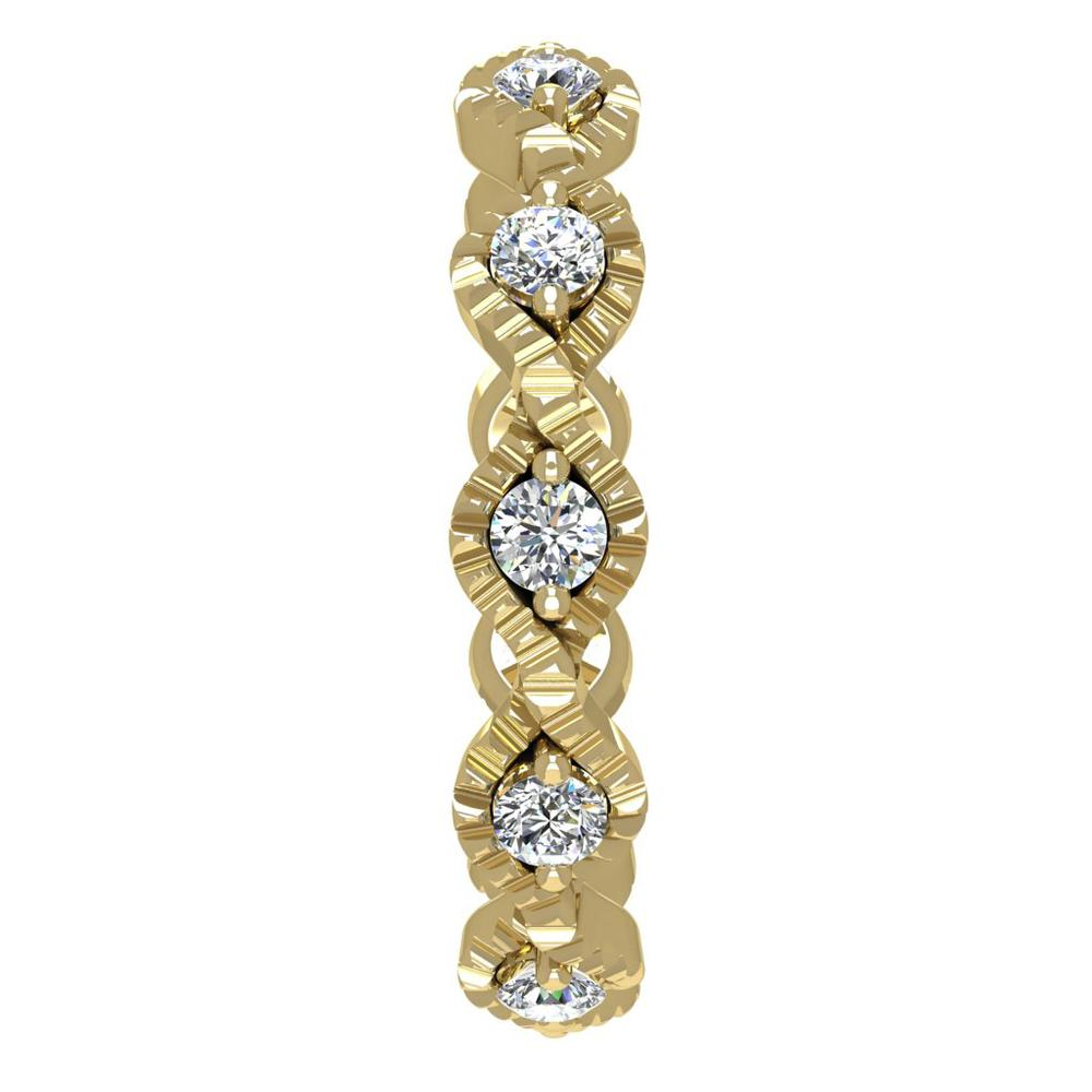 18K Yellow Gold Diamond Band