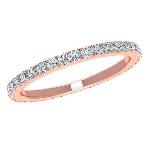 14K White Gold Diamond Band - Nazarelle