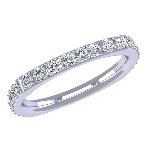 18K White Gold Diamond Band - Nazarelle
