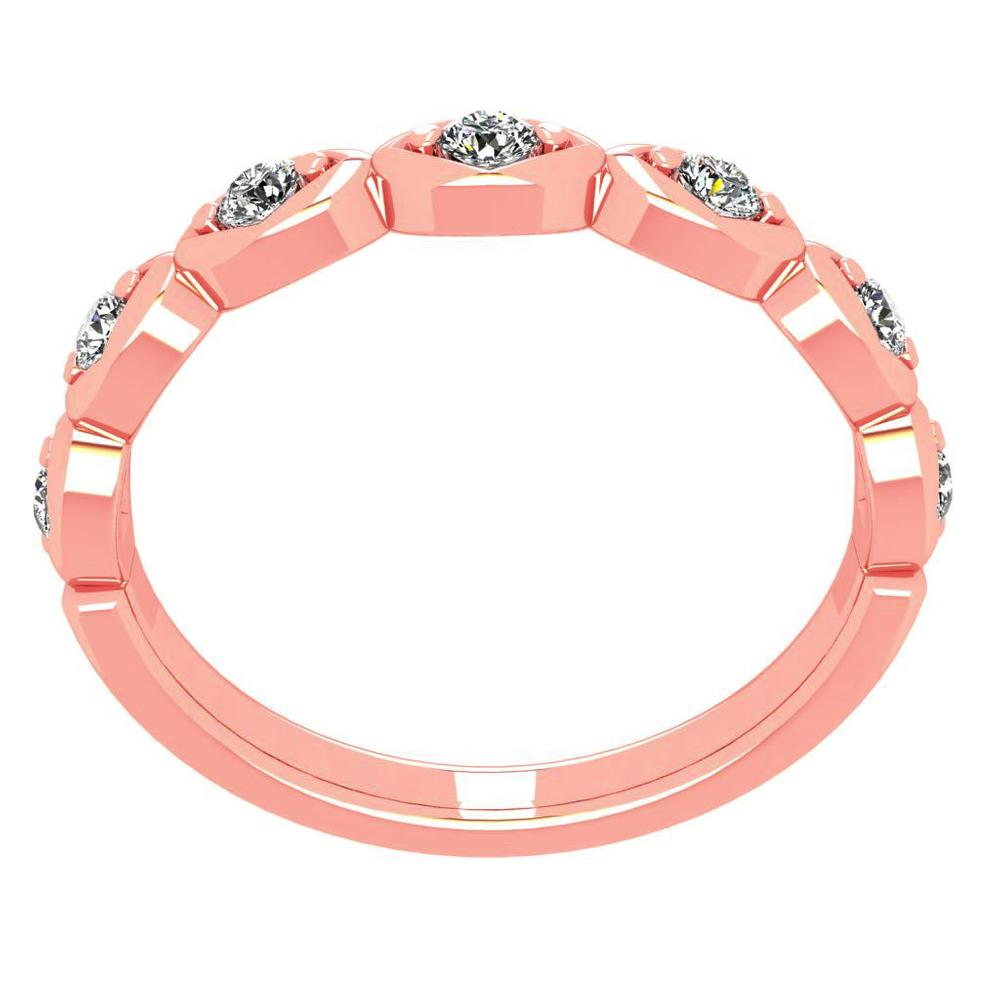 14K Rose Gold Diamond Band - Nazarelle