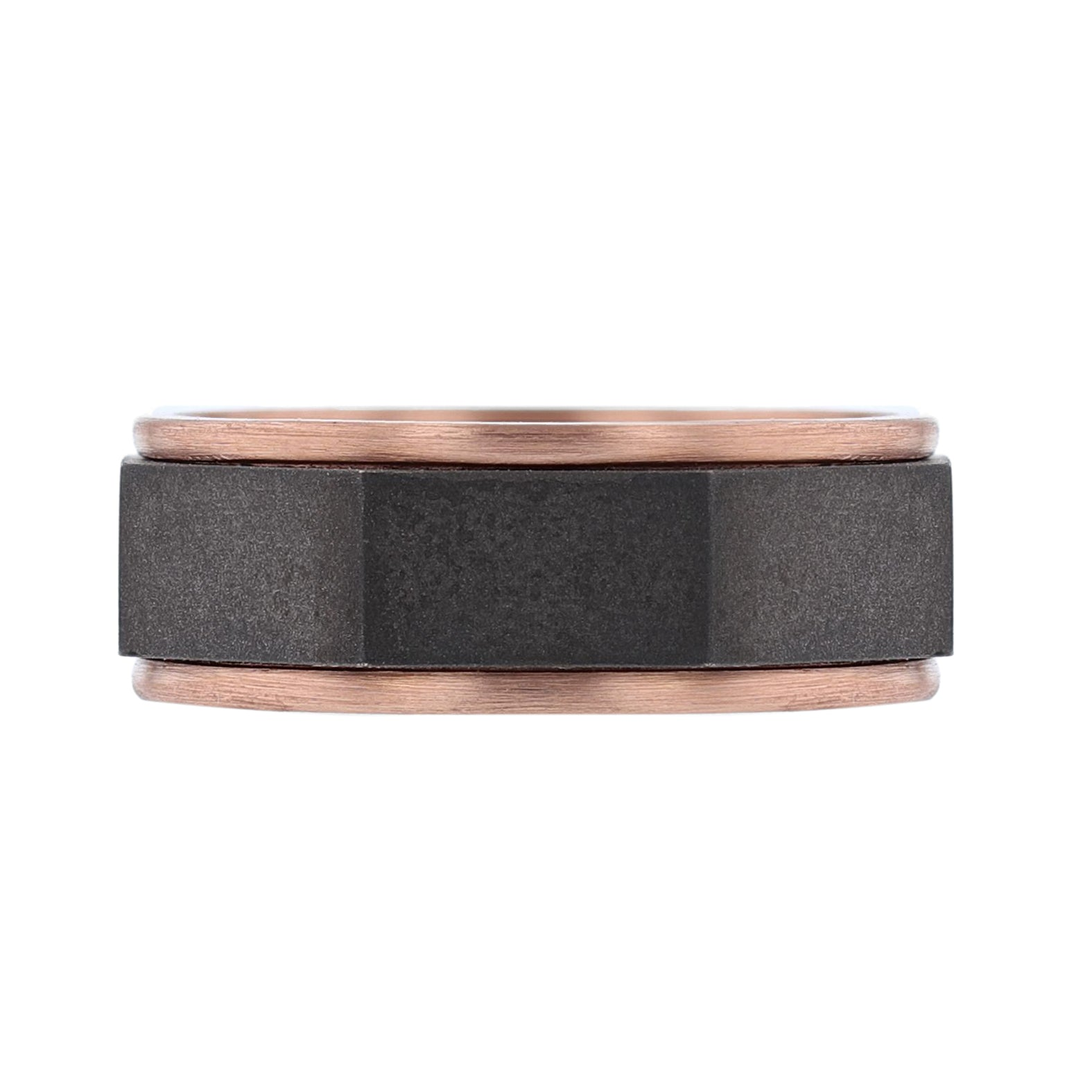 Men's 14K Black and Rose Gold Band - Nazarelle