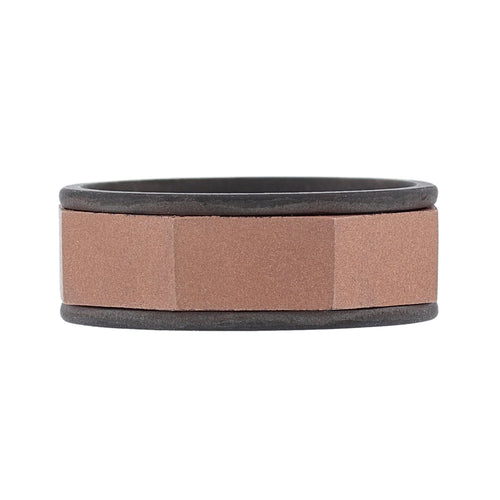 Men's 14K Rose and Black Gold Band