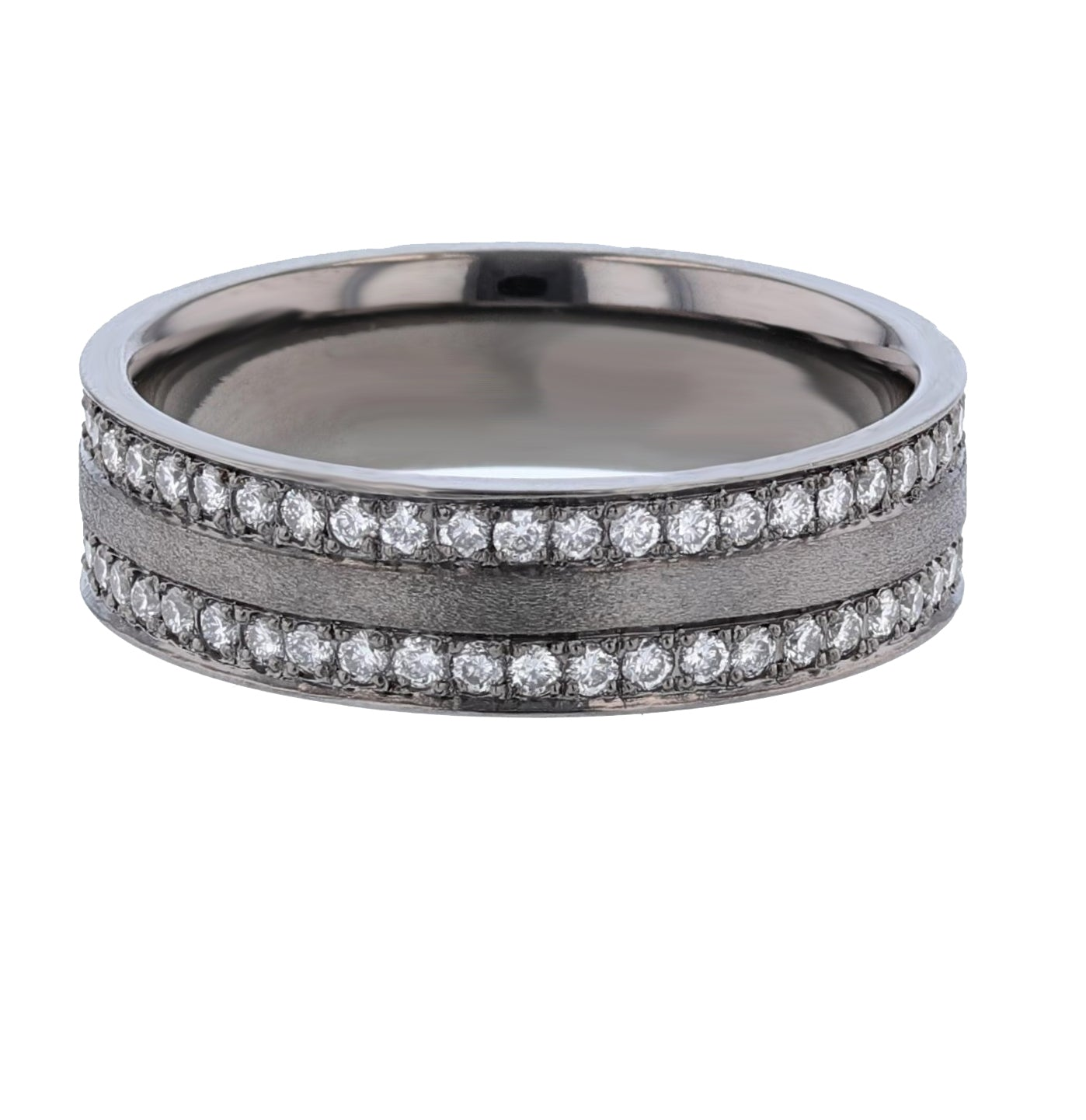 Men's 14K Black Gold Diamond Band