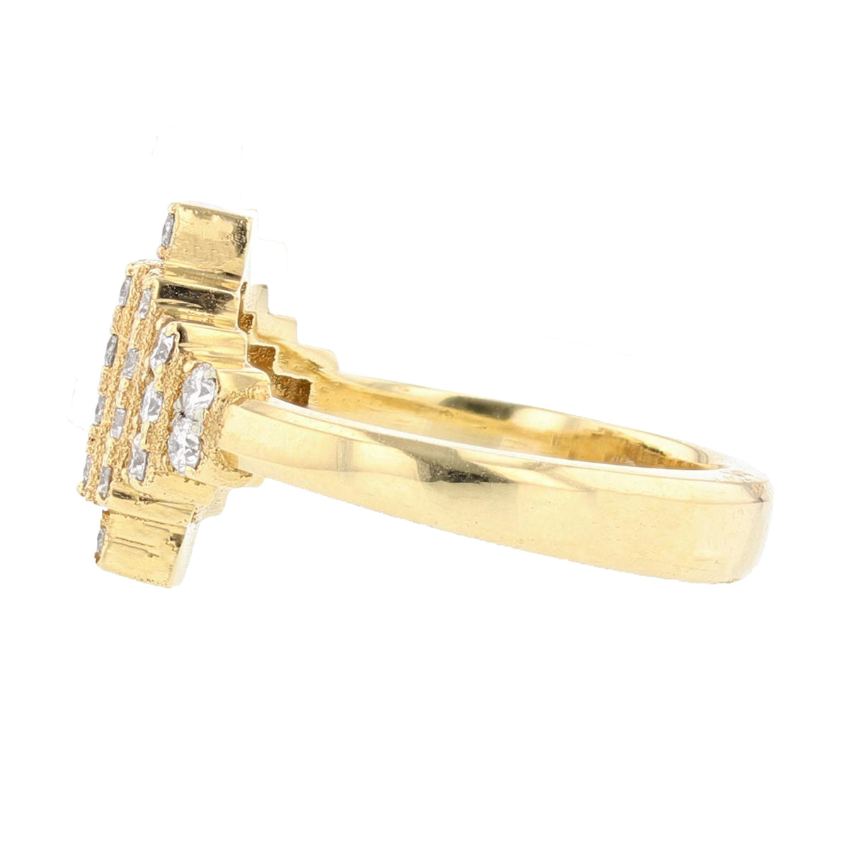 18K Yellow Gold Diamond Ring - Nazarelle