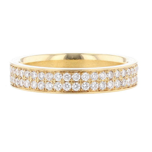 18K Yellow Gold Diamond Eternity Band - Nazarelle