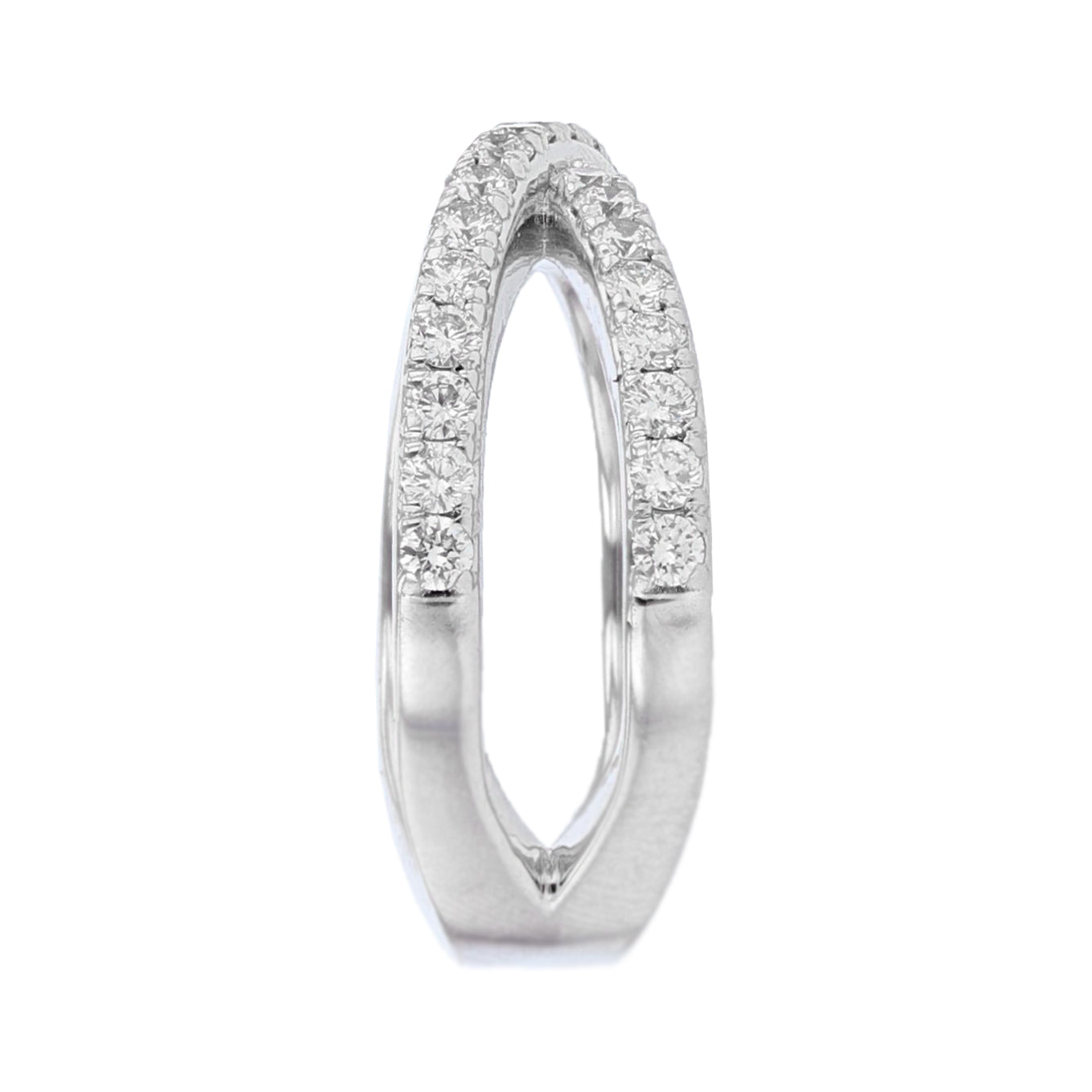 18K White Gold Diamond Criss Cross Ring