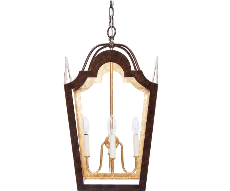 WEIS BRONZE & ANTIQUE GOLD LANTERN