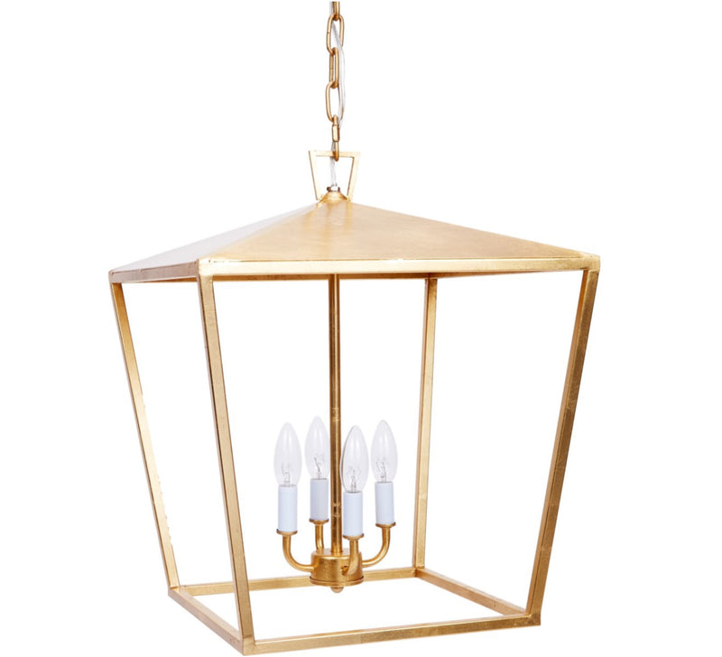 ESTES GOLD LEAF METAL LANTERN