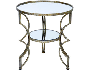 CINDI CHAMPAGNE GOLD MIRRORED ACCENT TABLE