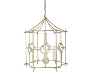SILVER SIX SIDED PARK CHANDELIER